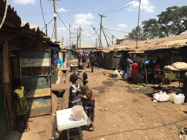 street in Kibera